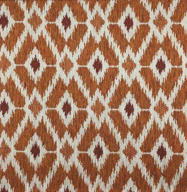 Pony Express - Diamond Pattern Upholstery Fabric - pony-express-pumpkin / Yard - Revolution Upholstery Fabric