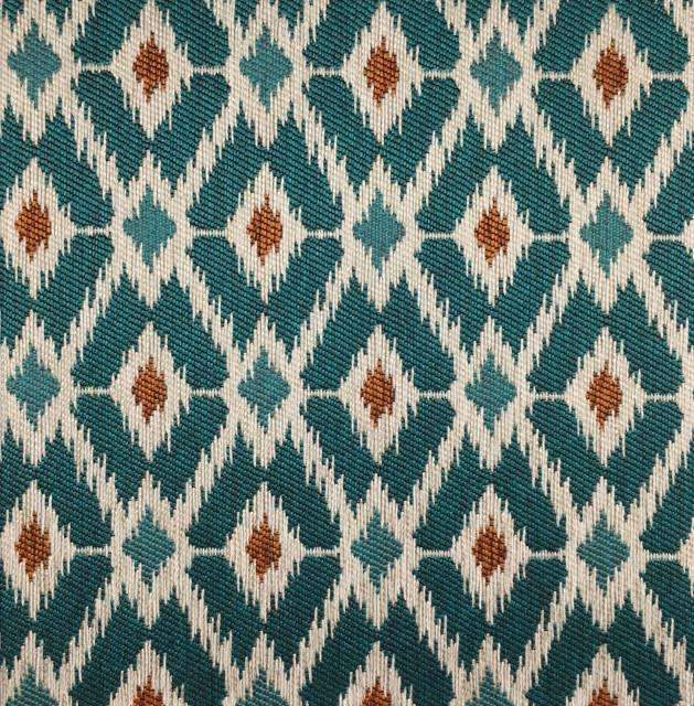 Pony Express - Diamond Pattern Upholstery Fabric - pony-express-teal / Yard - Revolution Upholstery Fabric
