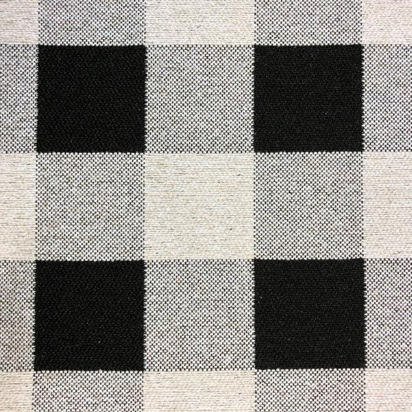 Rothbury Checkered - Jacquard Upholstery Fabric - Yard / rothbury-black - Revolution Upholstery Fabric
