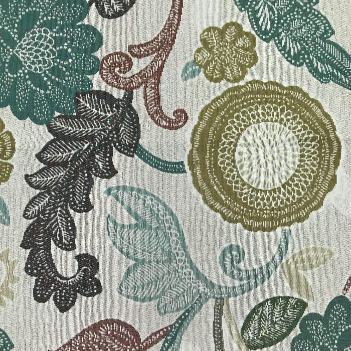 floral performance fabric
