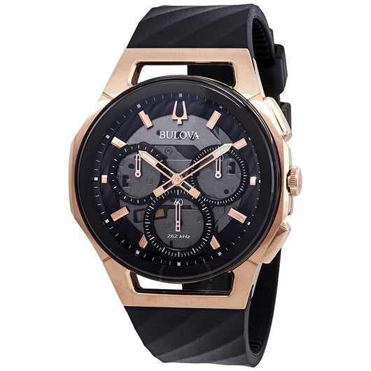 Bulova Chronograph Curv Black Male Watch