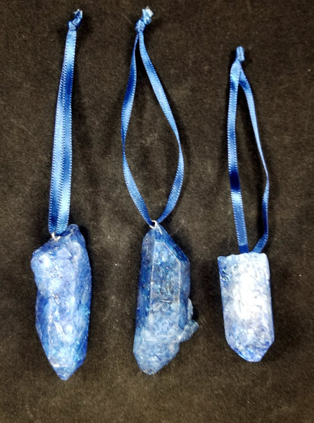 Dyed Quartz Dangle Ornaments