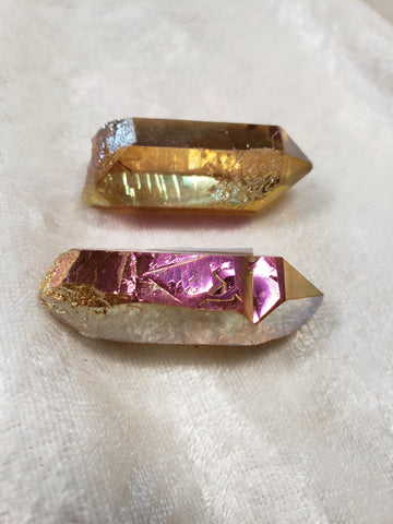 Sunset Aura Quartz Points