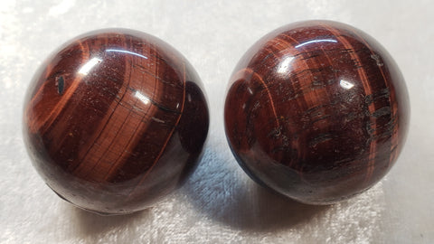 Red Tiger's Eye Spheres