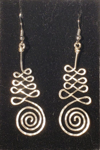 Silver Unalome Earrings