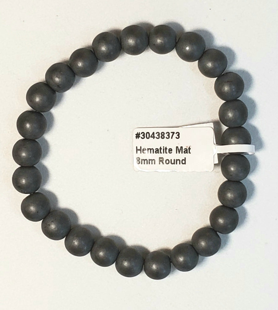 Hematite Bracelet (8mm Mat Finish)