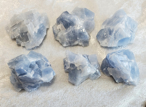 Blue Calcite Raw Chunks