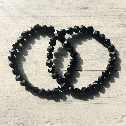Black Tourmaline Beaded Bracelet