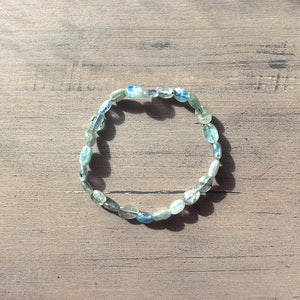 Blue Kyanite Bracelet - Oval Beads