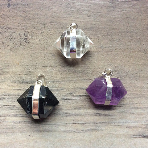 Double Terminated Point Pendants