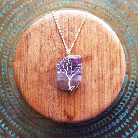 Iliamna Rose Tree Of Life Fluorite Pendant