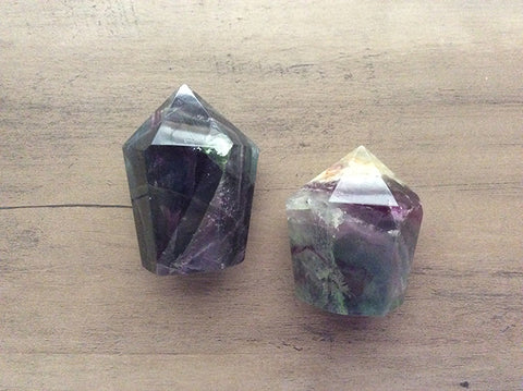 Fluorite Crystal Point Obelisk Generator