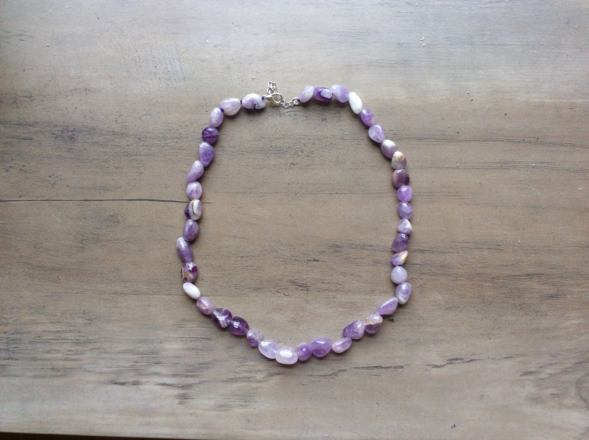 Amethyst Tumble Stone Necklace