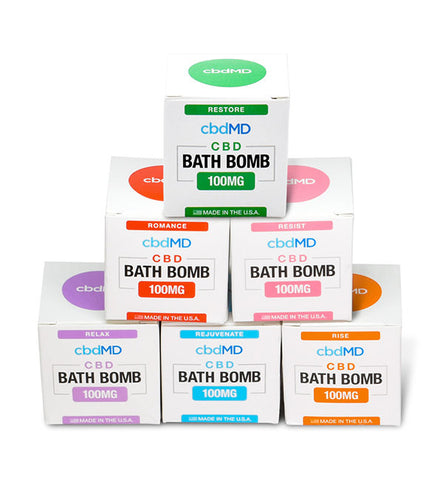 CBD Bath Bombs by cbdMD