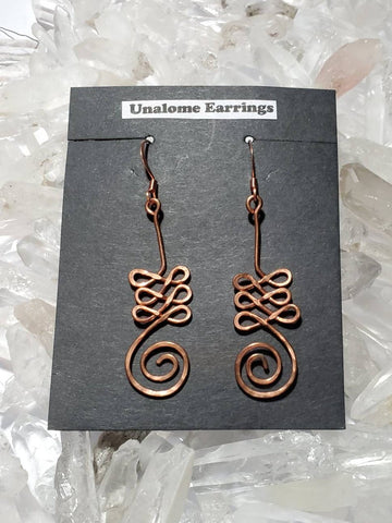 Copper Unalome Earrings