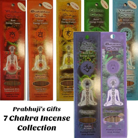 Prabhuji's Gifts Chakra Incense Sticks