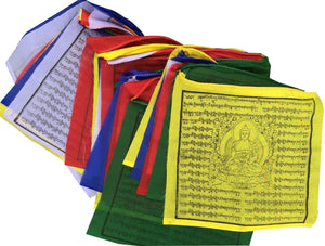 Medicine Buddha Tibetan Prayer Flags from Nepal
