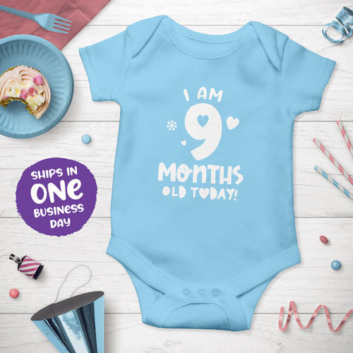 Month Birthday Celebration Short Sleeve Bodysuits