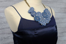 Handmade Bib Denim Necklace No. 2