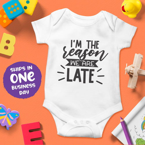 Baby Short Sleeve Bodysuits with Cute Funny Quotes