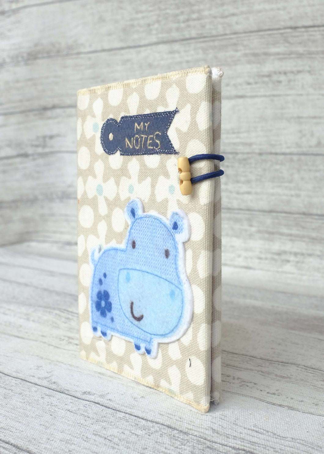 Applique Notebook Hippo