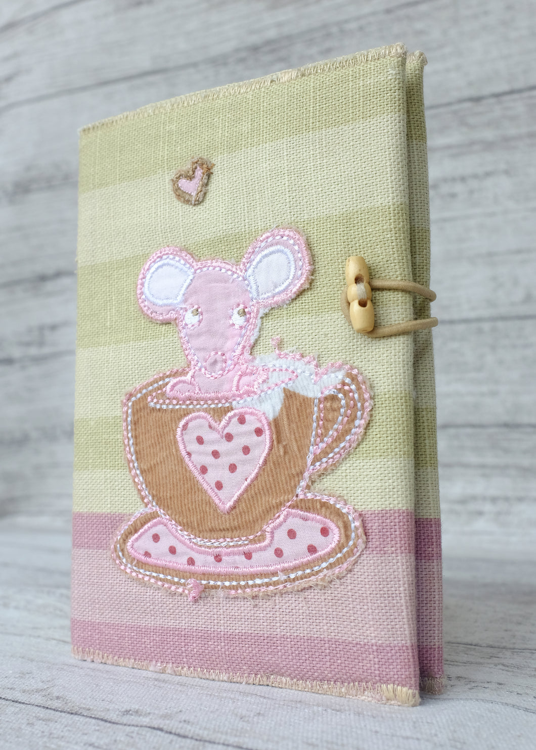 Applique Notebook Mouse