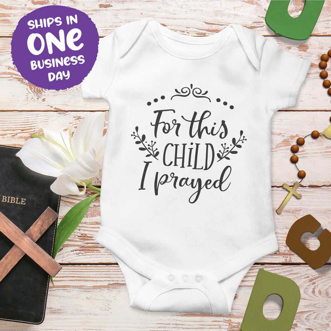 Baby Short Sleeve Bodysuits with Religious Quotes