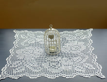 White Rectangle Crochet Doily No.1