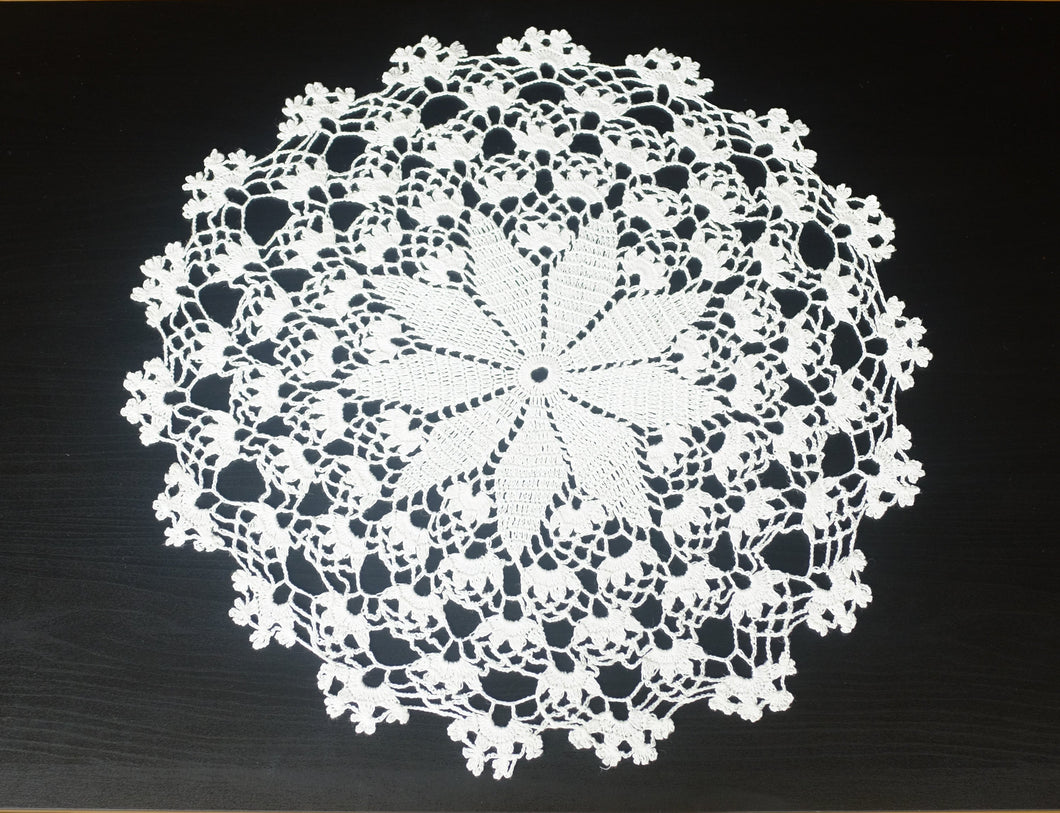 White Cotton Crochet Doily No.5