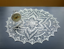 White Cotton Crochet Doily No.3