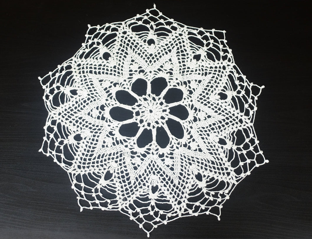 White Cotton Crochet Doily No.1