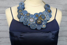 Handmade Bib Denim Necklace 4