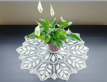 White Cotton Crochet Doily No.2
