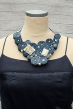 Handmade Bib Denim Necklace 5