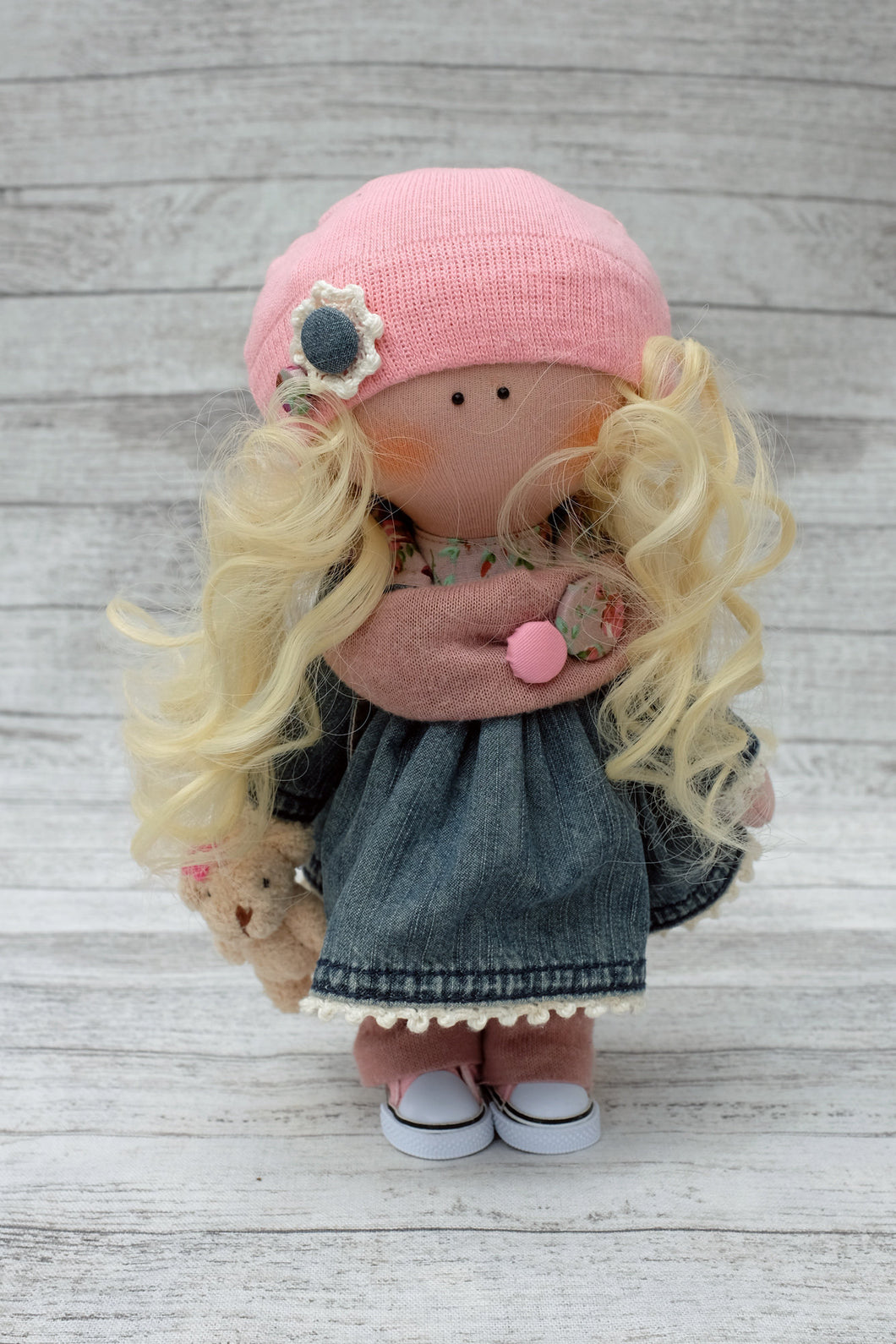 Sophia – Collectible Handmade Textile Interior Doll