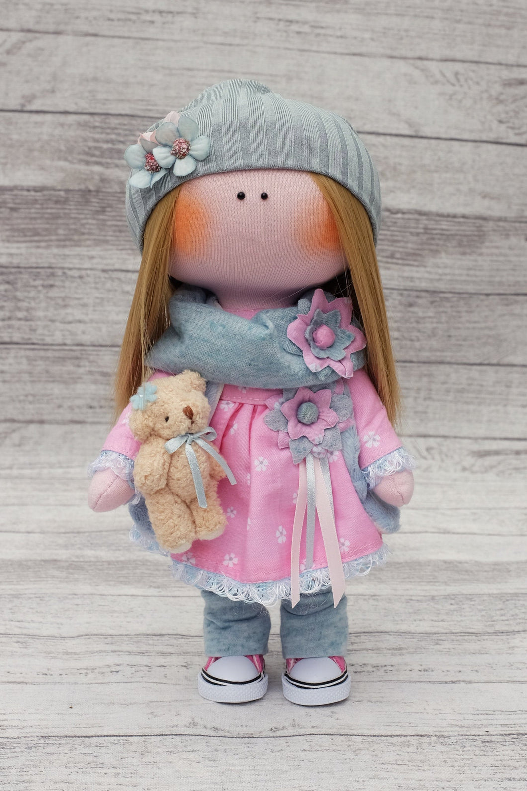 Amelia – Collectible Handmade Textile Interior Doll