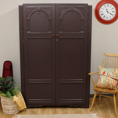 Painted Vintage Oak Wardrobe