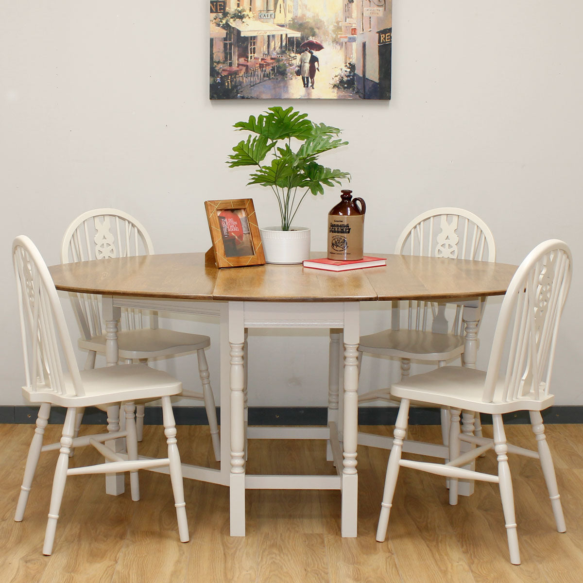 Vintage Painted Table & Chairs