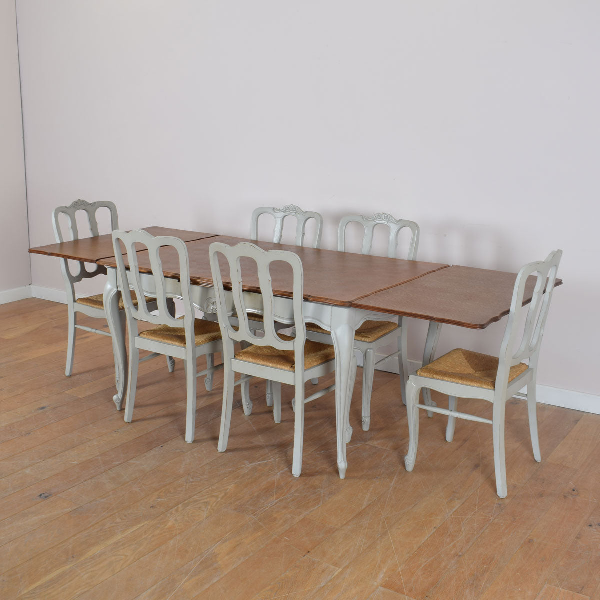 Stylish French Table And Six Chairs