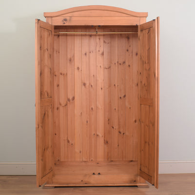 Restored Pine Double Wardrobe