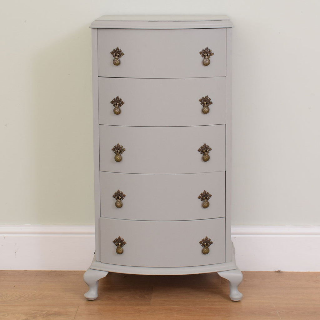 Painted slim chest of drawers