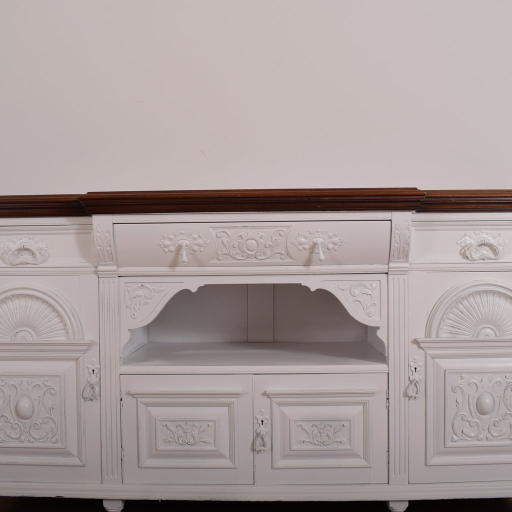 Painted Carved Sideboard
