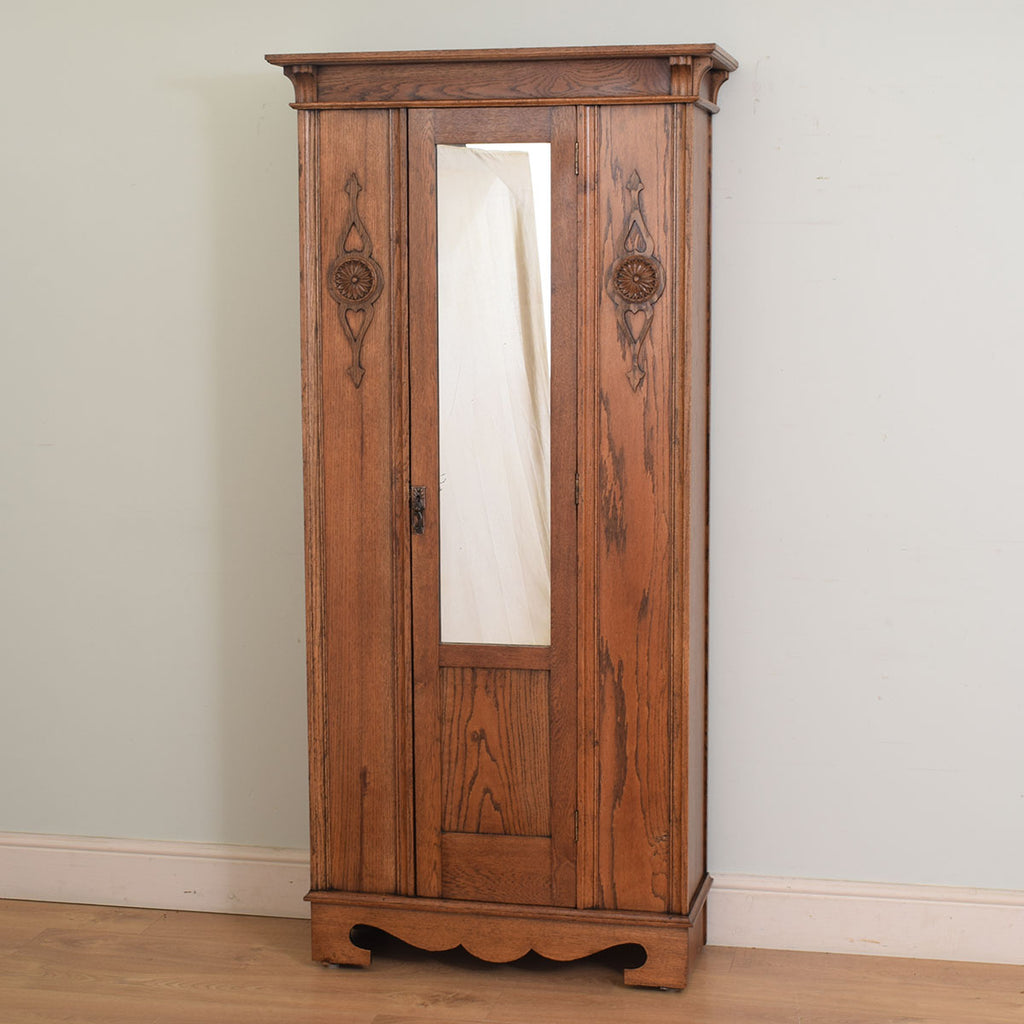 Restored Mirror Door Wardrobe