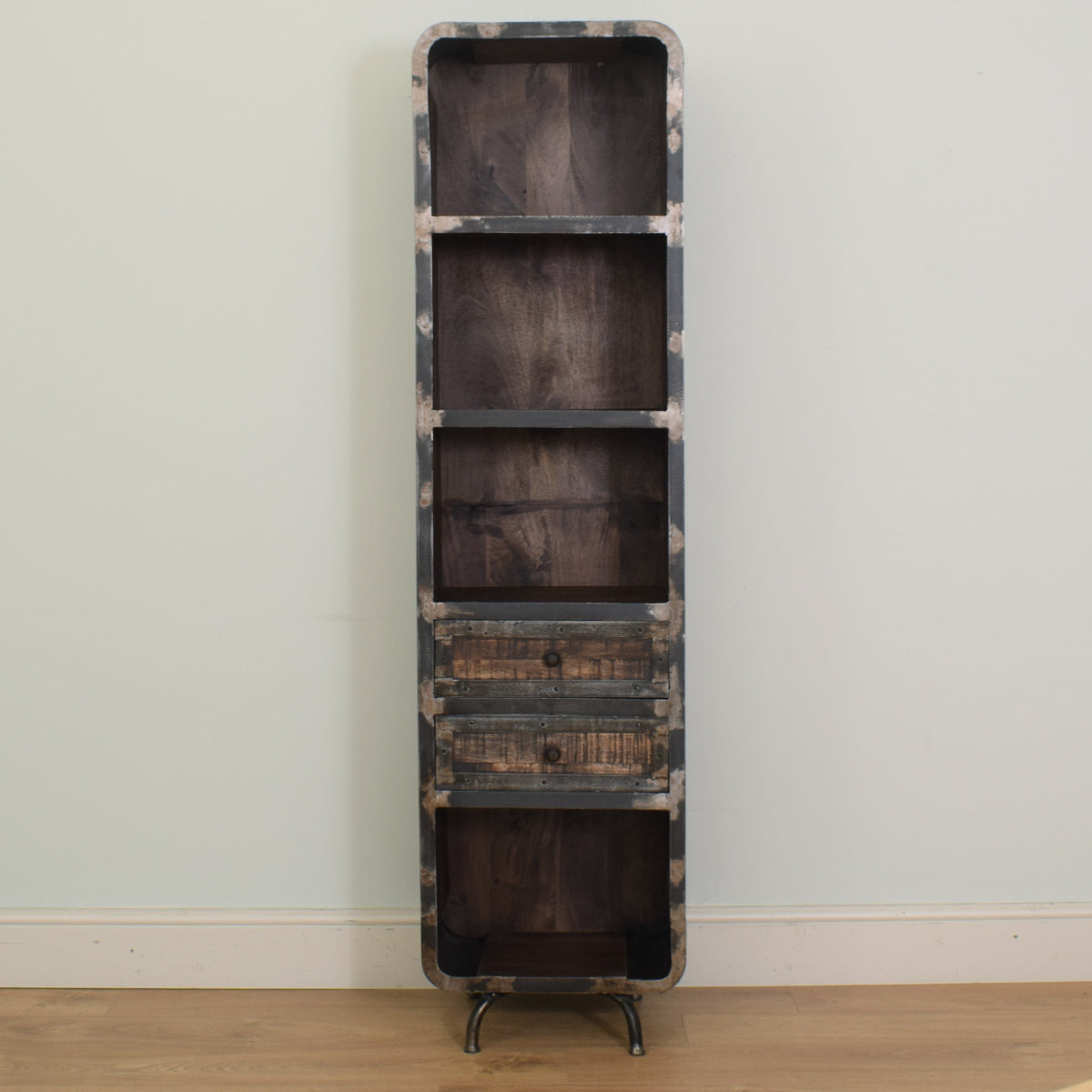 Mango & Steel Tall Bookcase