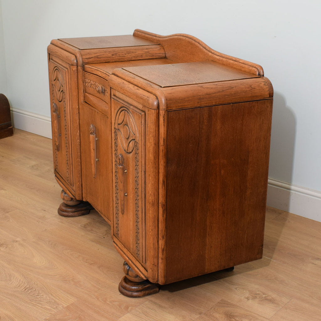 Restored Carved Oak Sideboard