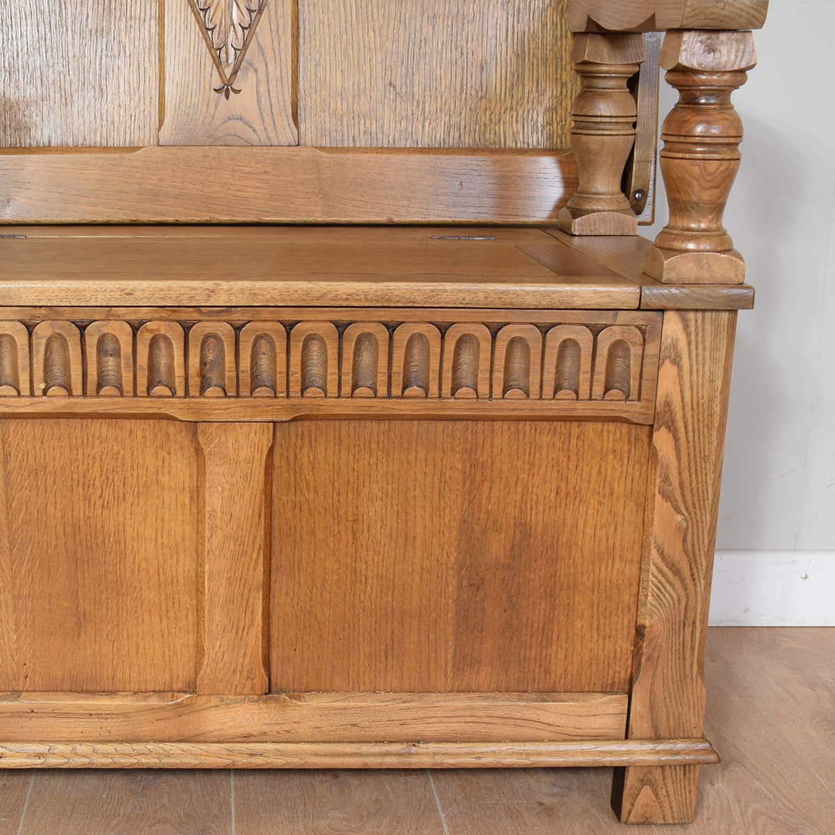 Restored Oak Monks Bench