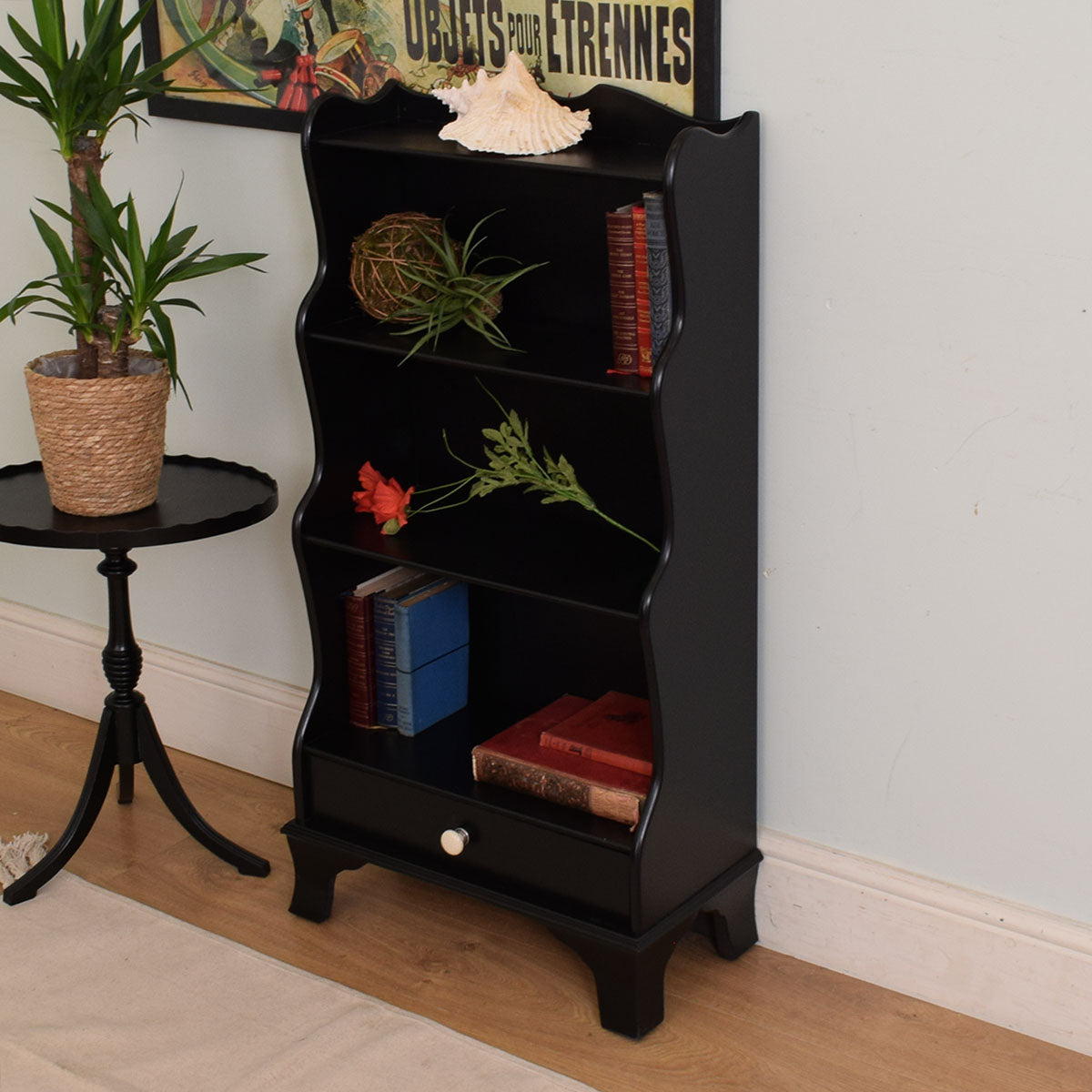 Painted Waterfall bookcase