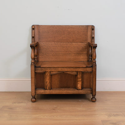 Traditional Oak Monks Bench