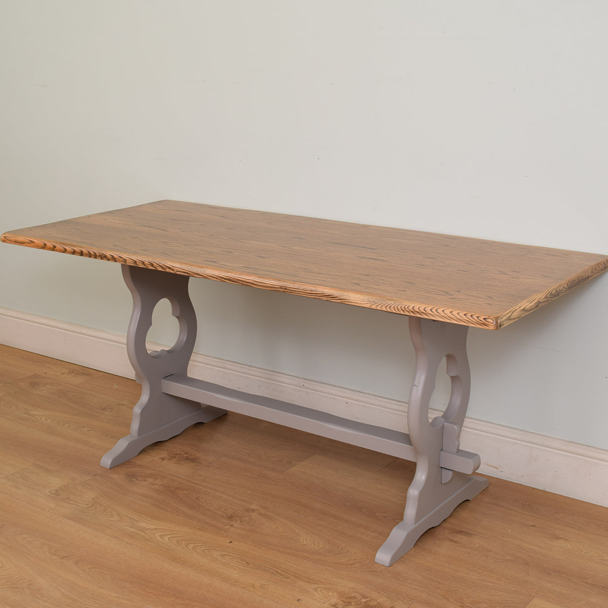 Painted Oak table and six chairs