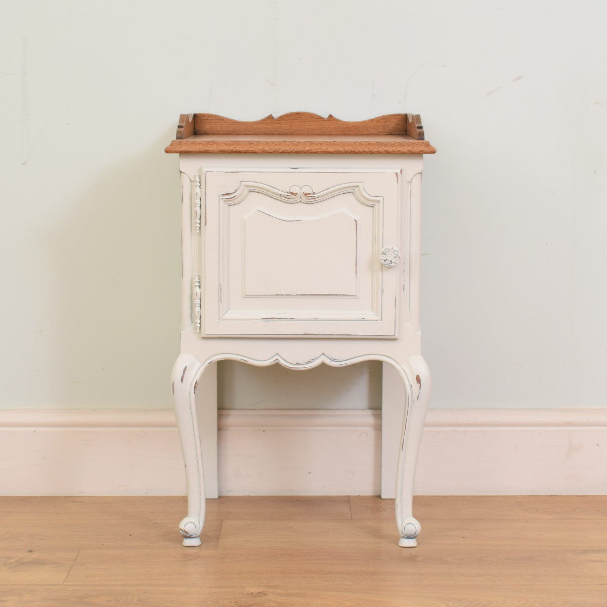 Painted French Bedside Cabinet